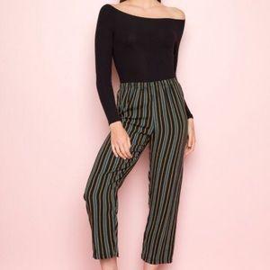 Brandy Melville Frankie Flowy striped pant